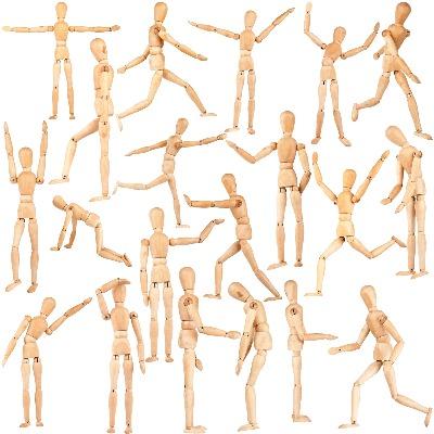 stick figures representing movement