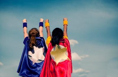 people dressed as superheros