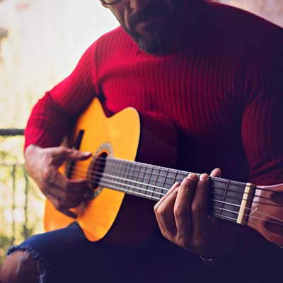 man playing guitar